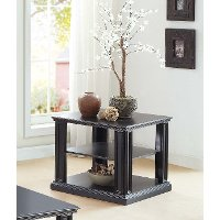 Black Modern End Table - Kingston