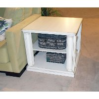 White Modern End Table - Kingston
