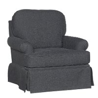 1550SG-PARADIGM/SMK Smoke Gray Swivel Glider Accent Chair - Paradigm