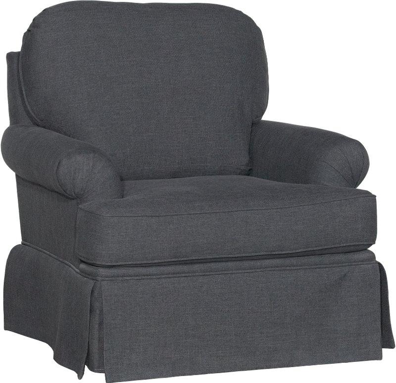 1550SG PARADIGM/SMK Smoke Gray Swivel Glider Accent Chair   Paradigm