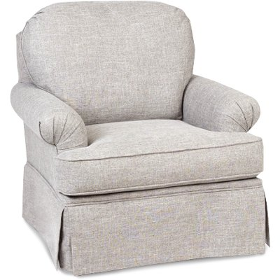 quartz beige swivel glider accent chair paradigm