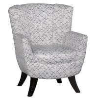 Mercury White and Gray Club Chair - Bethany