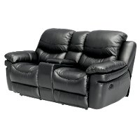 black manual reclining loveseat siena collection