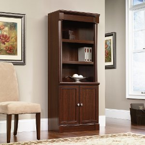 ... Cherry Wood Bookcase With Doors   Palladia