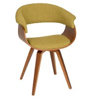 Green/ Walnut Dining Chair - Summer