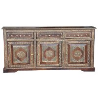 Princess Brown and Brass Sideboard