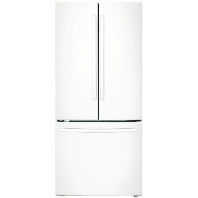 Awesome RF18HFENBWW Samsung 33 Inch French Door Refrigerator Counter Depth   White