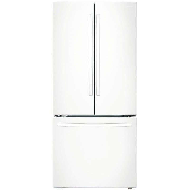 RF18HFENBWW Samsung French Door Refrigerator   33 Inch White Counter Depth