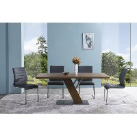 Set of 2 Gray Dining Chairs - Fusion