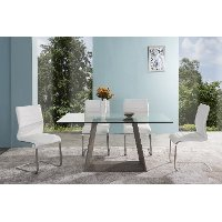 Set of 2 White Dining Chairs - Fusion