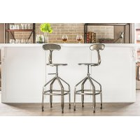 M-94137X-30-GM-BS Gun Metal Backrest Bar Stool - Architects