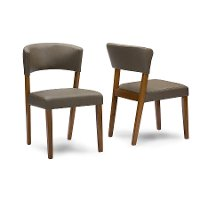 RT281-CHR-2 Wood Dining Chair Pair - Montreal