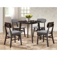Dark Brown Wood Dining Chair Pair - Debbie
