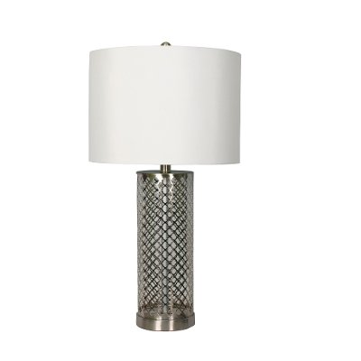 Open Fretwork Metal Table Lamp