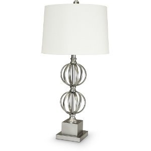 Rc willey sells table lamps for your bedroom or den painted silver double sphere metal table lamp aloadofball Gallery