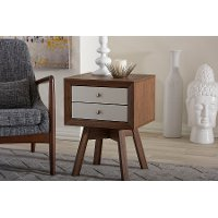 ST-005-AT/Walnut/Wht Two-Tone Walnut/ White End Table - Warwick