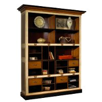 Beige, Black and Light Cherry Bookcase - Archivists
