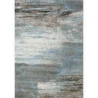 5 x 8 Medium Gray and Blue Rug - Breeze