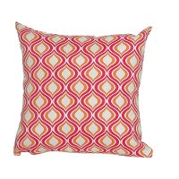 Red, Orange and White Indoor-Outdoor Throw Pillow