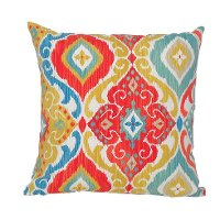 Multi-Color Indoor-Outdoor Throw Pillow