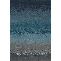 8 x 11 Large Ombre Blue and Gray Area Rug - Geneva