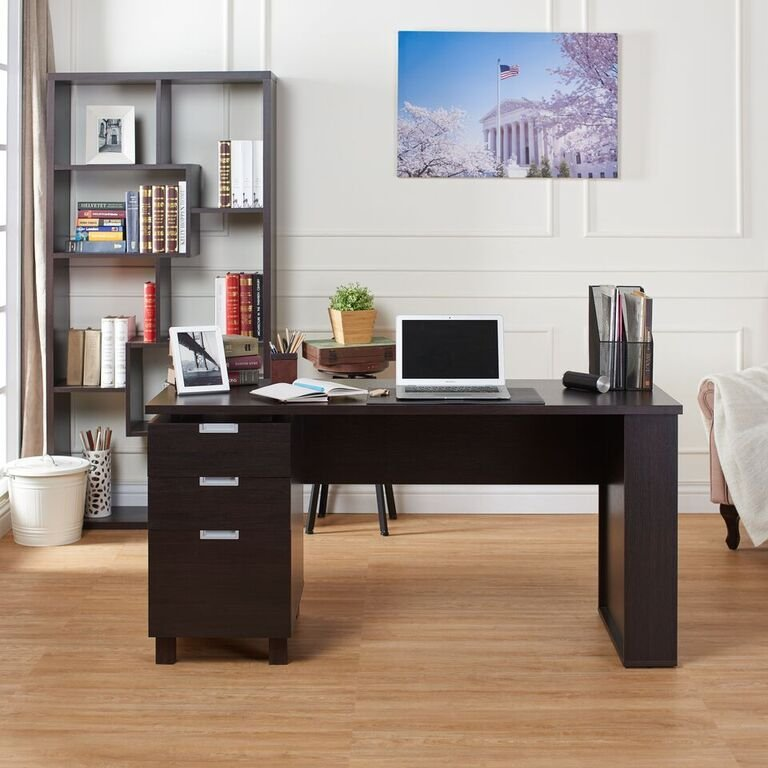 Desk with Builtin File Cabinet - Brooklyn
