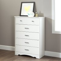 9059035 White 5-Drawer Chest - Tiara