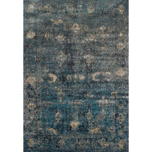 ... 5 X 8 Medium Teal And Charcoal Gray Area Rug   Antiquity