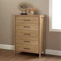 9068035 Rustic Oak 5-Drawer Chest - Gravity