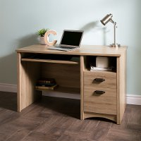 9064070 Rustic Oak Desk with 2 Drawers - Gascony