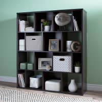 10004 Brown 16-Cube Compartment Shelf - Reveal