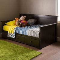 10079 Chocolate Twin Daybed with Storage - Summer Breeze