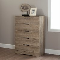 9075035 Weathered Oak 5- Drawer Chest - Holland