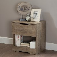 9075062 Weathered Oak 1-Drawer Nightstand - Holland