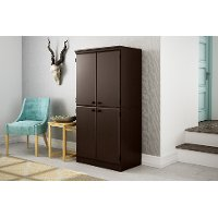 10073 Brown Armoire Storage Cabinet - Morgan