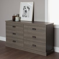 10117 Gray Oak Double Dresser - Gloria