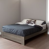 10120 Gray Oak Queen Platform Bed - Gloria