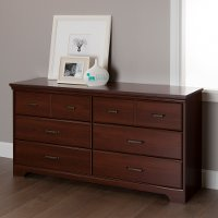 10123 Cherry 6-Drawer Double Dresser - Versa