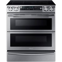 NE58K9850WS Samsung Double Oven Electric Range - 5.8 cu. ft. Stainless Steel