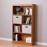 10131 Country Pine 4-Shelf Bookcase - Axess