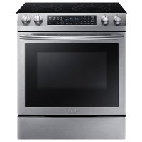 NE58K9430SS Samsung 30 Inch Slide In Electric Convection Range - 5.8 cu. ft. Stainless Steel