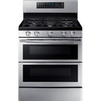 NX58K7850SS Samsung 5.8 cu. ft. Double Oven Gas Slide-in Range - Stainless Steel