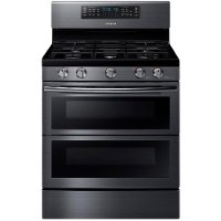 NX58K7850SG Samsung Double Oven Gas Range - 5.8 cu. ft. Black Stainless Steel