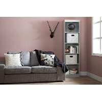 10134 Soft Gray Narrow 5-Shelf Bookcase - Axess