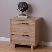 9067060 Rustic Oak 2-Drawer Nightstand - Fynn
