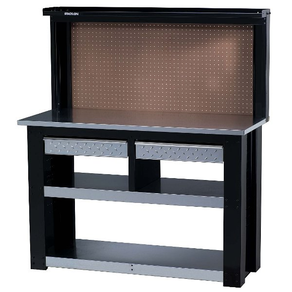 Stack On Black And Silver 54 Inch Professional Workbench24999 Gladiator  Graphite Tall Storage GearBox