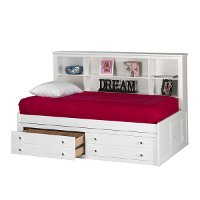 Classic White 5 Piece Full Bedroom Set - Bayfront