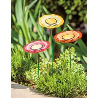 Assorted Multi Color Metal Poppy Garden Flowers