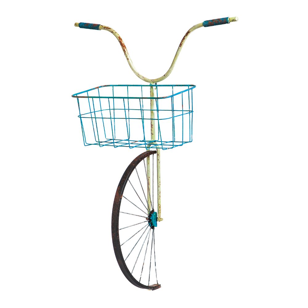 Front Basket Metal Bicycle Wall Decor and Planter | RC Willey ...