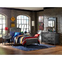 1265BTRP Metallic Contemporary Twin Metal Bed - Urban Quarters